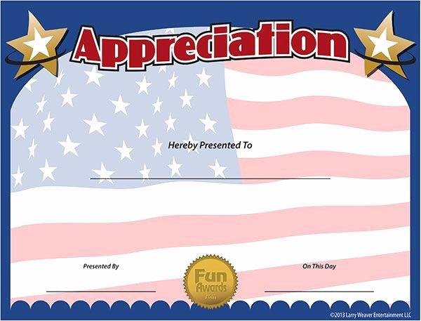 Veteran Appreciation Certificate Template Luxury Military Certificates Cub Scout Ideas