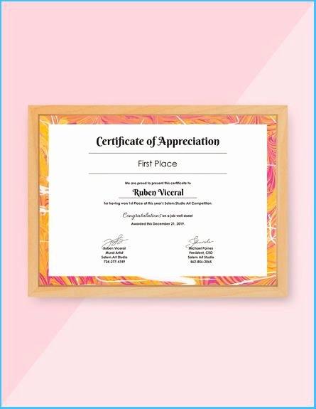 Veterans Appreciation Certificate Template Beautiful Veterans Appreciation Certificate Template
