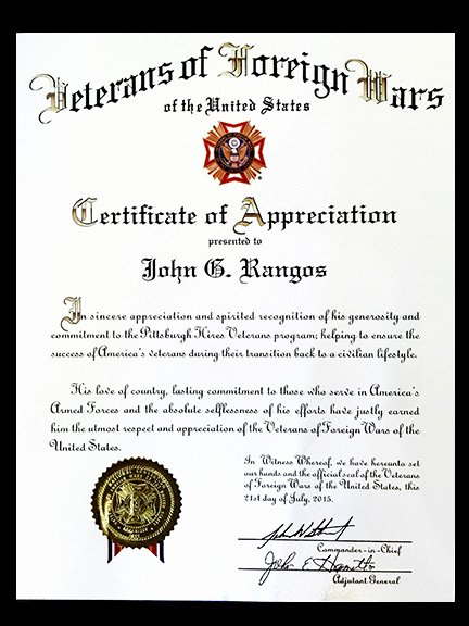 Veterans Appreciation Certificate Template New Finding Jobs for Vets