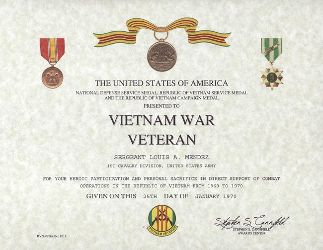 Veterans Appreciation Certificate Template Unique Rvn War Veteran Certificate