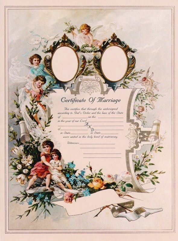 Vintage Marriage Certificate Template Awesome 529 Best Ideas About Vintage Victorian Prints & Ads On