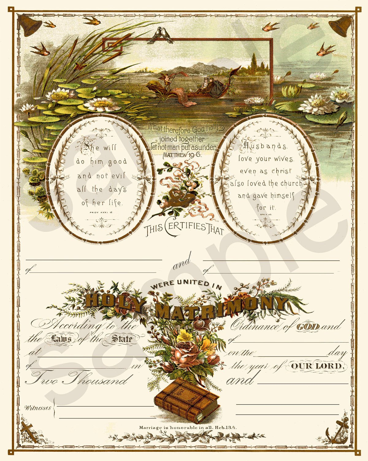 Vintage Marriage Certificate Template Beautiful Beautiful Antique 19th Century Blank Marriage Certificate