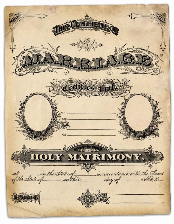 Vintage Marriage Certificate Template Beautiful Free Public Domain Family Record Marriage Certificate and