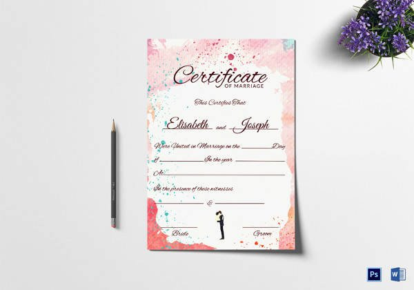 Vintage Marriage Certificate Template Best Of Sample Marriage Certificate 16 Documents In Pdf Word