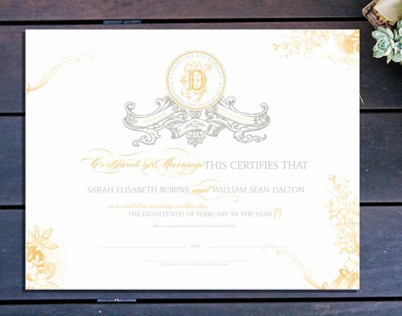 Vintage Marriage Certificate Template Inspirational Items Similar to Vintage Banner Custom Marriage