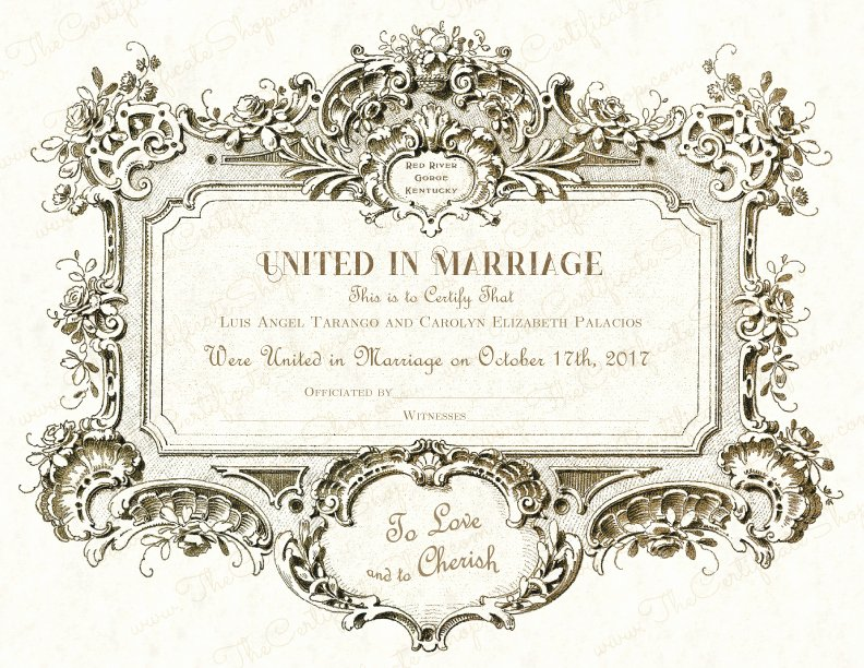 Vintage Marriage Certificate Template Lovely Design 21 – Vintage Black and Gold – the Certificate Shop