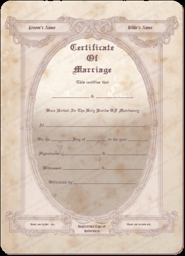 Vintage Marriage Certificate Template Luxury Vintage Flowers Marriage Certificate Template