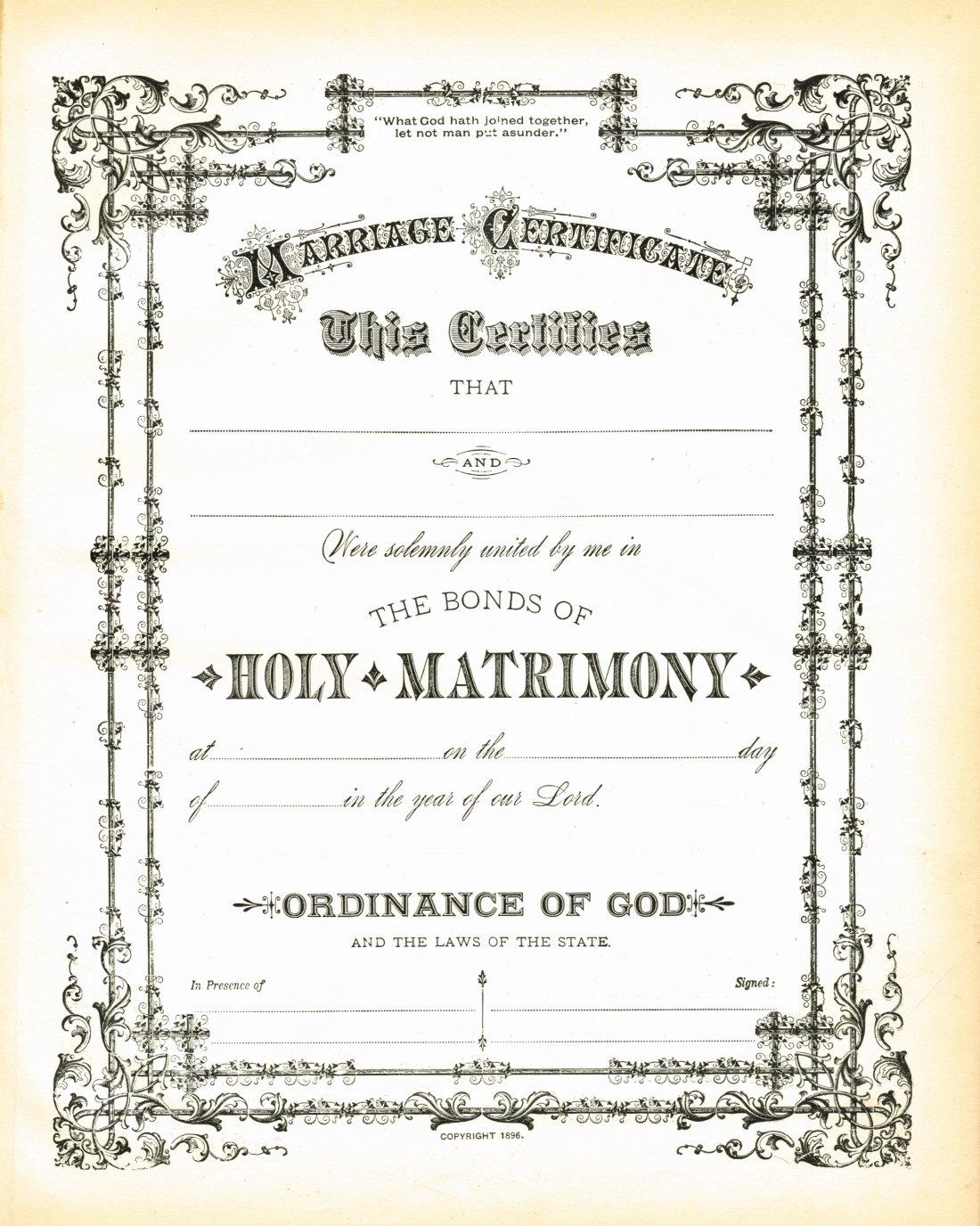Vintage Marriage Certificate Template New Antique Certificate Of Marriage Printable Via Knickoftime