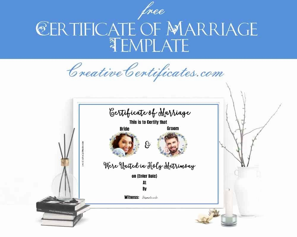 Vintage Marriage Certificate Template Unique Free Marriage Certificate Template