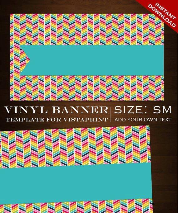 Vista Print Birthday Banners Inspirational Chevron Vinyl Banner Customizable Rainbow Vinyl Banner