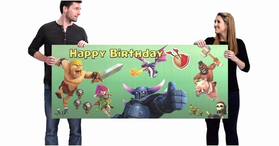 Vista Print Birthday Banners New Clash Of Clans Birthday Banner Generic
