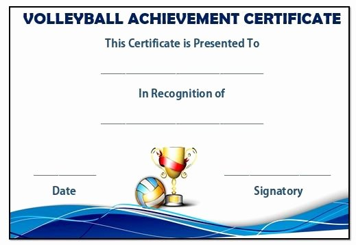 Volleyball Certificate Template Free Awesome 19 Best Images About Volleyball Certificates Free