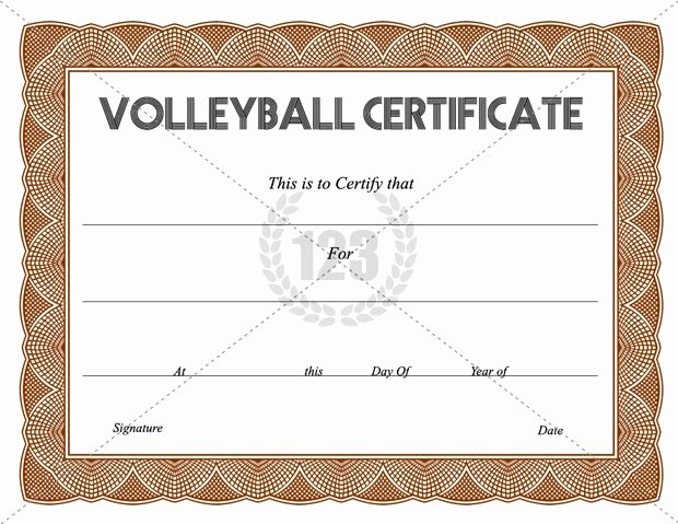 Volleyball Certificate Template Free Beautiful Get Free Volleyball Certificate Templates 123certificate