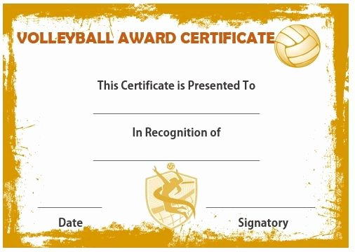 Volleyball Certificate Template Free Inspirational 19 Best Volleyball Certificates Free Printables Images On