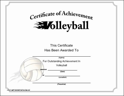 Volleyball Certificate Template Free Inspirational 30 Best Images About Awards & Certificates On Pinterest