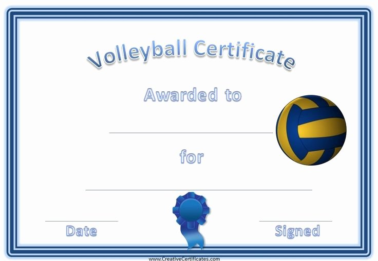 Volleyball Certificate Template Free Lovely 19 Best Volleyball Certificates Free Printables Images On