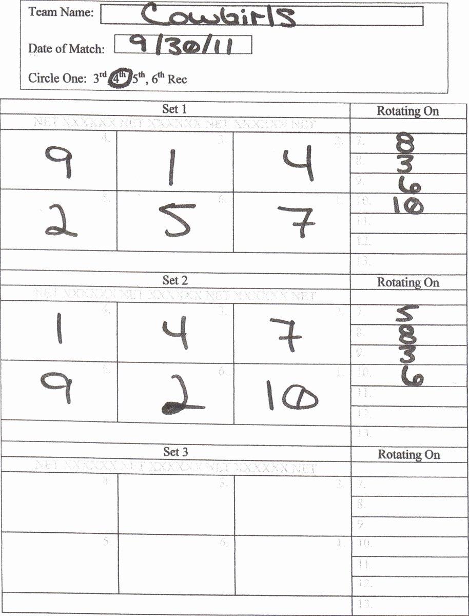 Volleyball Lineup Sheet Printable Elegant Gva Score Keepers