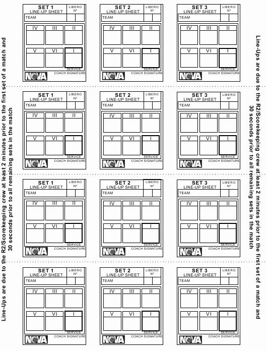 Volleyball Lineup Sheet Printable Inspirational Volleyball Lineup Sheet Nova Download Printable Pdf