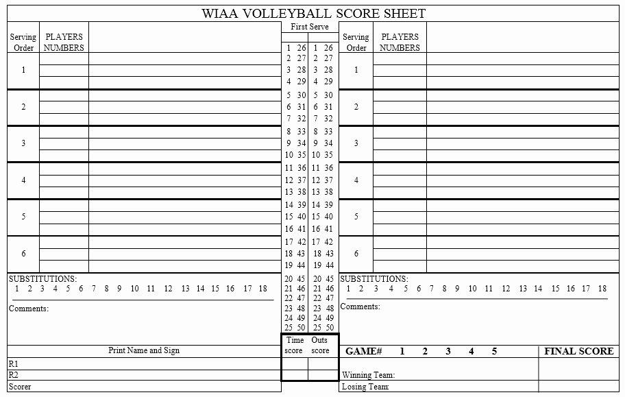 volleyball score sheet templates