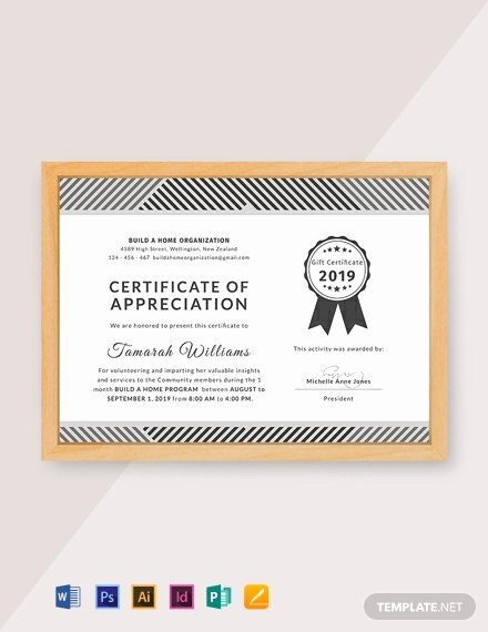 Volunteer Of the Month Certificate Template Best Of 33 Free Appreciation Certificate Templates In Adobe