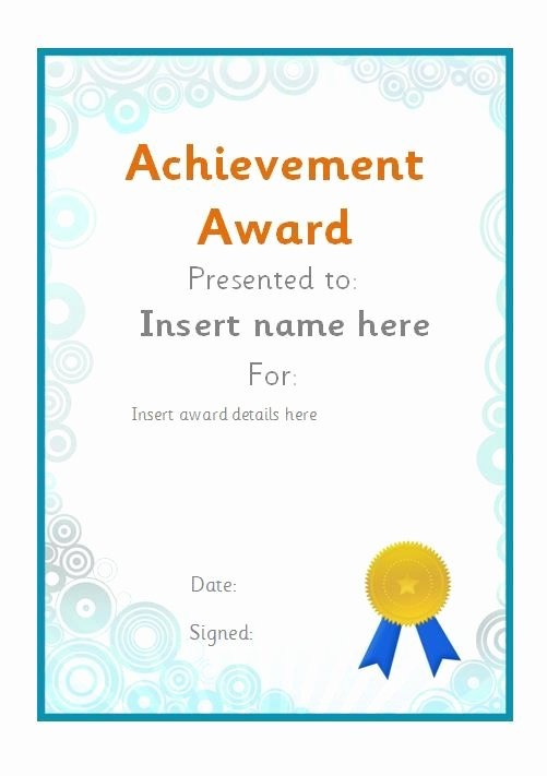 Volunteer Of the Month Certificate Template Inspirational Editable Achievement Award Certificate Teachingresources