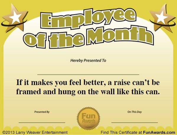 Volunteer Of the Month Certificate Template Inspirational Employee Of the Month Awards …