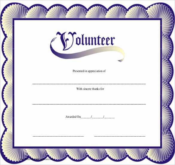 Volunteer Of the Month Certificate Template Lovely Volunteers Certificate Templates Free Download the