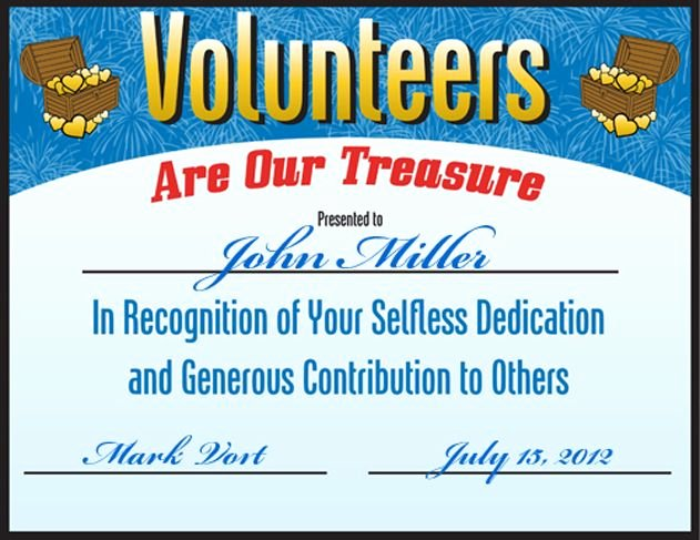 Volunteer Of the Month Certificate Template New 32 Best Images About Volunteer Appreciation Ideas On