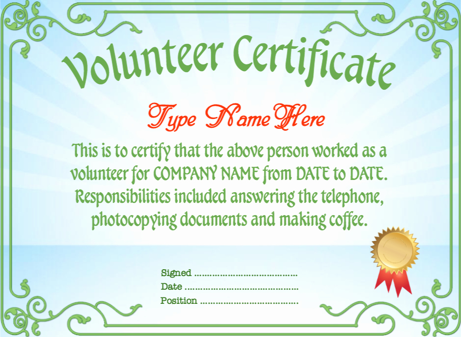 Volunteer Of the Month Certificate Template New Bunch Ideas for Volunteer the Month Certificate