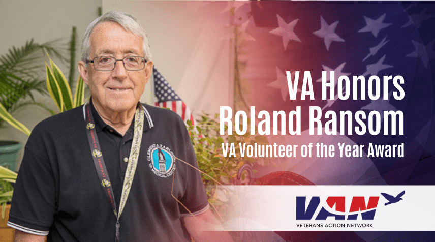 Volunteer Of the Year Certificate Beautiful Va Honors Roland Ransom with Va Volunteer Of the Year Award