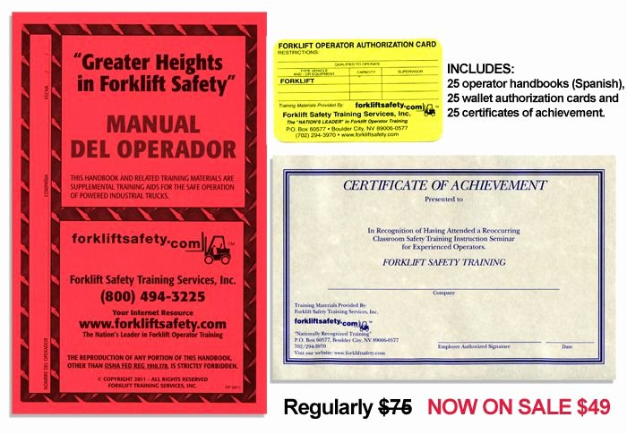Wallet Size Certification Card Template Awesome Osha Pliant forklift Training and Operator