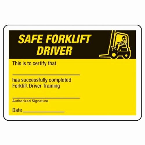 Wallet Size Certification Card Template Beautiful Certification Wallet Cards Safe forklift Driver