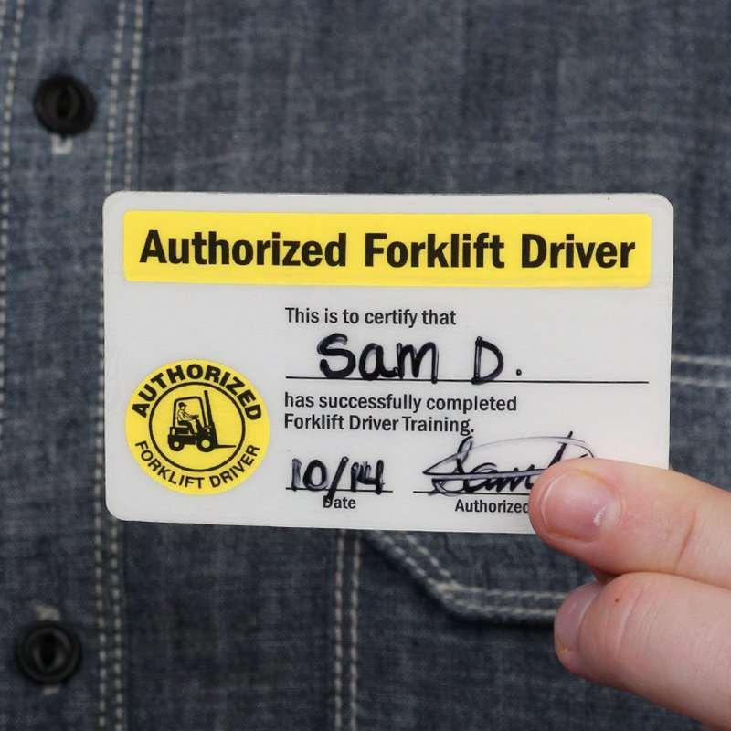Wallet Size Certification Card Template New Self Laminating Authorized forklift Certification Wallet