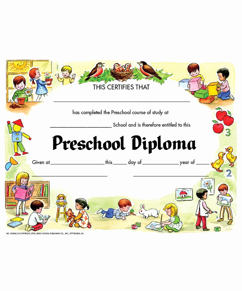 Wallet Size High School Diploma Luxury Diplomas Preschool 30 Pk 8 5 X 11