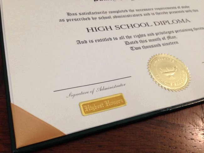 Wallet Size High School Diploma Luxury Homeschool