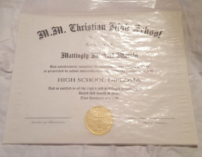 Wallet Size High School Diploma Luxury Product Review Of Homeschool Diploma High School Standard