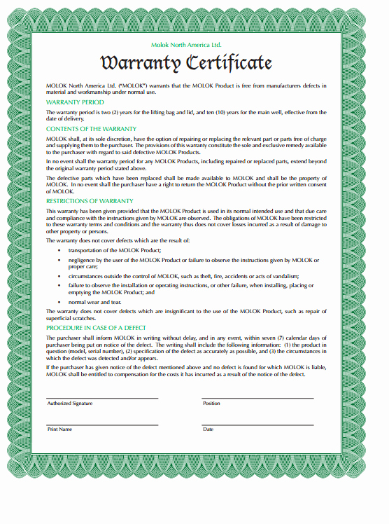 Warranty Certificate Template Free Best Of 5 Warranty Certificate Templates formats Examples In