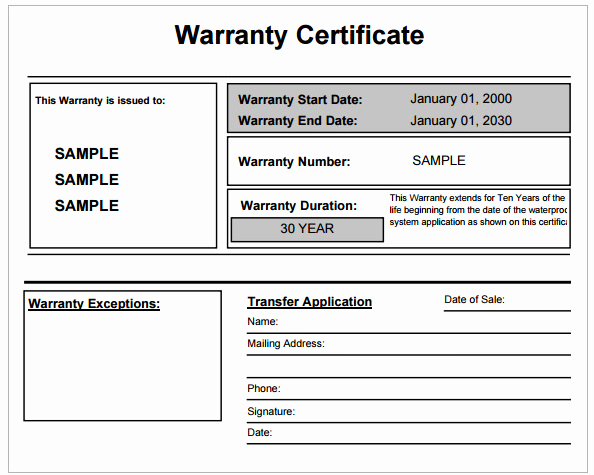 Warranty Certificate Template Free Fresh Warranty Certificate Template