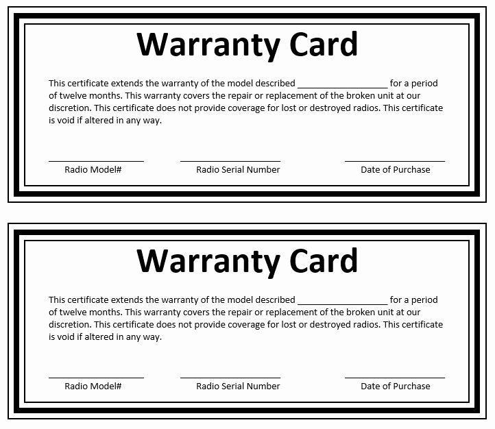 Warranty Certificate Template Word Best Of Warranty Certificate Template Microsoft Word Templates