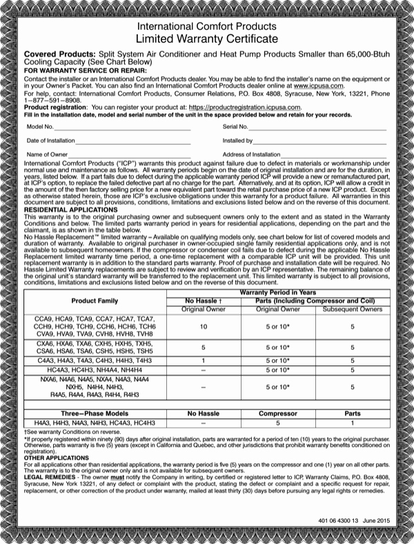 Warranty Certificate Template Word Elegant Download Limited Warranty Certificate Template for Free