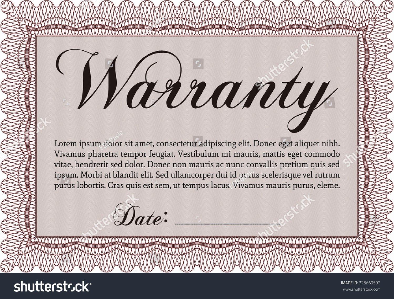 Warranty Certificate Template Word Elegant Warranty Certificate Template Sample Text Very Stock