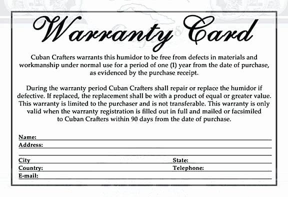 Warranty Certificate Template Word Lovely Free Warranty Template