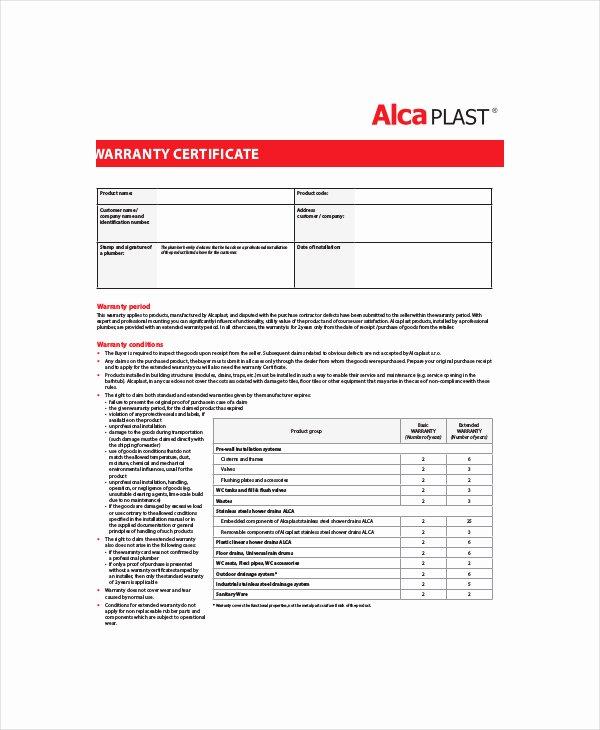 Warranty Certificate Template Word New 28 Of Warranty Template