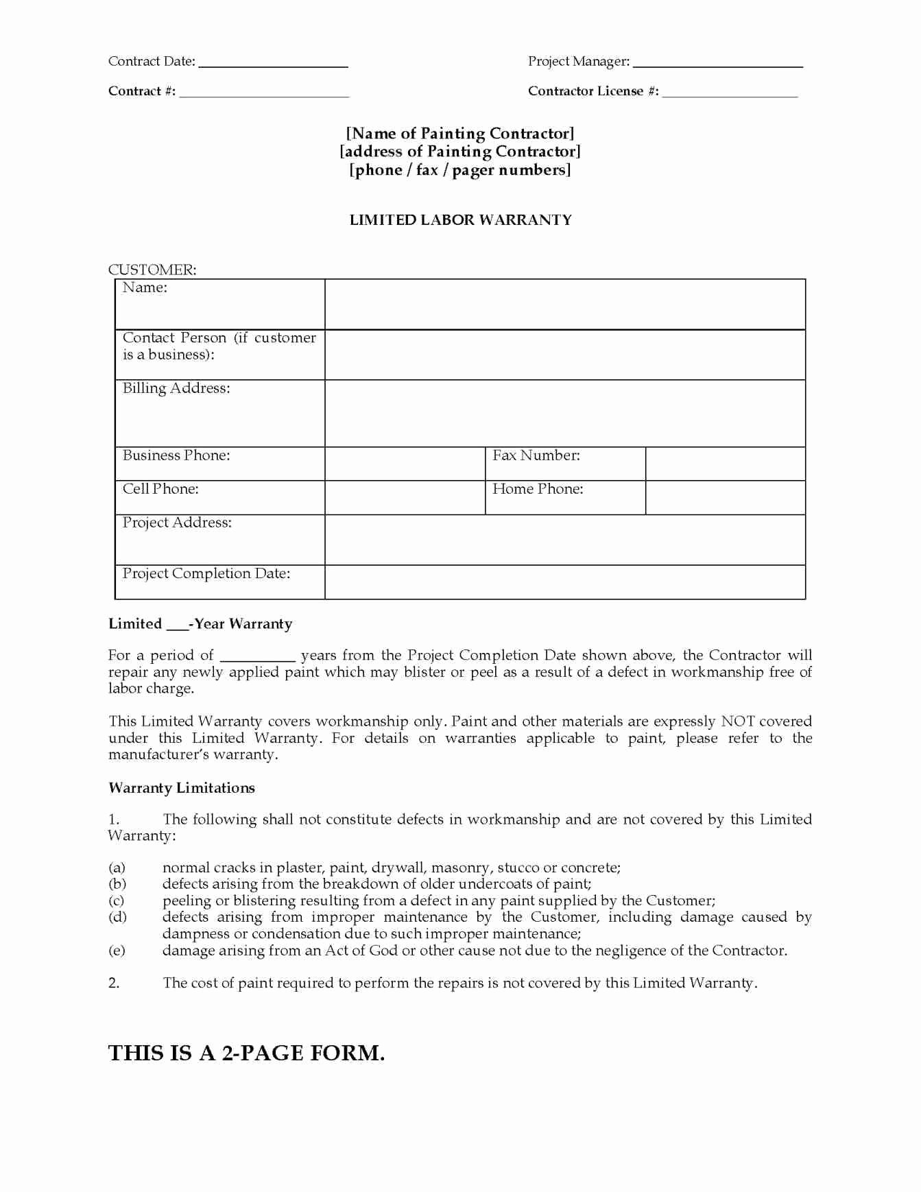 Warranty Certificate Template Word Unique Construction Warranty Letter Template Free Samples