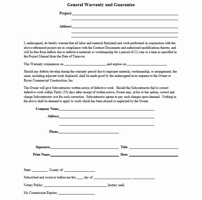 Warranty Letter General Contractor Best Of Professional New Construction Home Warranty Template