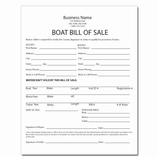 Watercraft Bill Of Sale Best Of Equipment forms & Template Printing