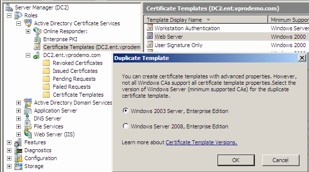 Web Server Certificate Template Lovely why is My Certificate Template Missing From Intel Scs