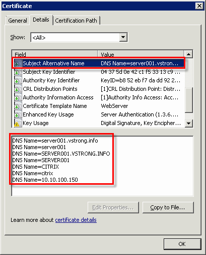 Web Server Certificate Template New How to Create Server Certificate and Include Dns Alias