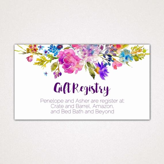 Wedding Gift Certificate Template Free Download Awesome Garden Wedding Registry Cards Printable Template A Purple