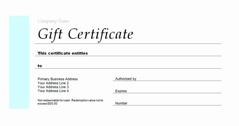 Wedding Gift Certificate Template Free Download Luxury 173 Free Gift Certificate Templates You Can Customize